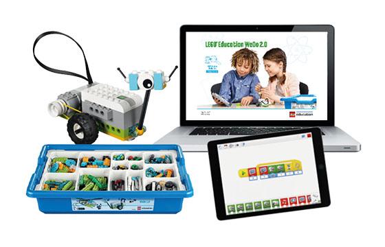 LEGO Education WeDo set and tablet